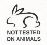 Símbolo de producto non experimentado en animais